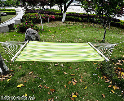 Outsunny 2-Person XL Green Camping Hammock Bed Pillow Swing Bed Chain