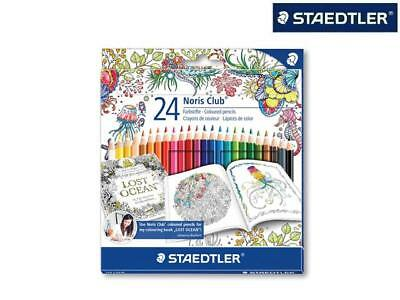 24 Staedtler Farbstift Buntstift Malstift Johanna Basford Edition Im Etui Top !
