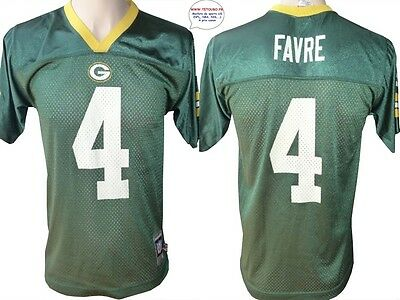 Maillot nfl Foot US américain PACKERS N°4 Favre Taille L (us) -> XL (fr)