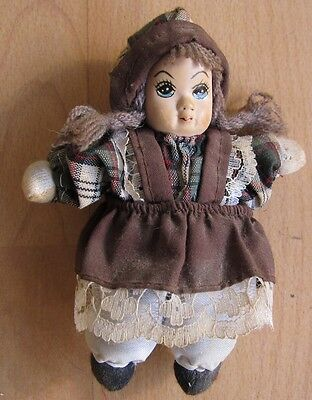 Beautiful Porcelain Doll doll Girl Collector Rare porcelain Head 13 high