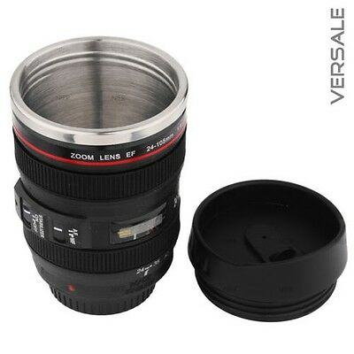 Thermo Mug Camera Objective Cup Commuter Mug Cup Coffee Cup Drinking Cup