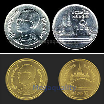 Set Of Thai Coin 1, 2 Baht New Condition Free Shipping
