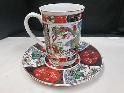 Collectible Cup and Saucer, Imari made for Heritage Mint, Japan