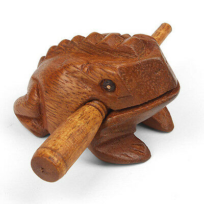 Childrens Mini Wooden Croaking Frog Guiro Sound Effect Percussion Instrument