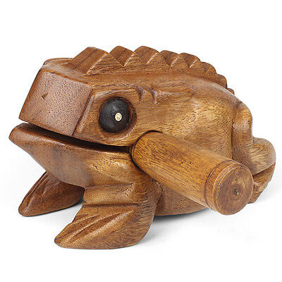Fun Kids Medium Wooden Croaking Frog Guiro Sound Effect Percussion Instrument