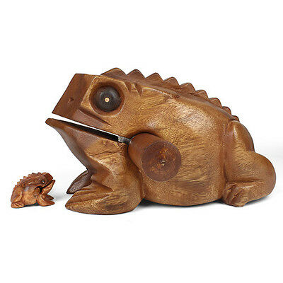 Fun Extra Large Wooden Croaking Frog Guiro Sound Effect Percussion Instrument