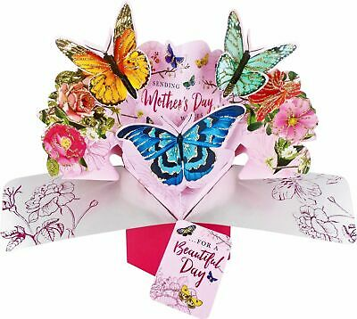 Mothers Day Card Pop Up Cards. Mum Mom Mother's Day Cards