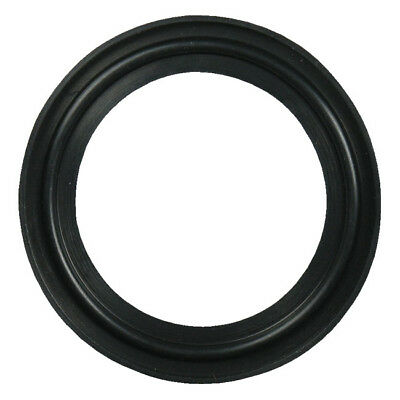 "Buna Sanitary Tri-Clamp Gasket, Black - 10"" (Flanged)"