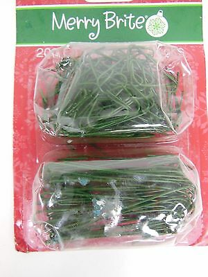 Merry Brite Green Christmas Ornament Hooks, 200 Ct.