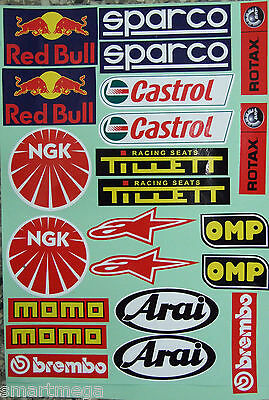 Kart Go Karting  , 22  Sponsors Overall Racing Car , Karting Decals / Stickers