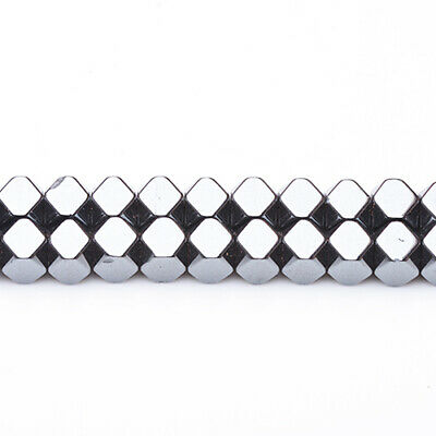 Strand Of 45+ Grey Hematite (Non Magnetic) 8 x 8mm Cube Beads GS6852-1