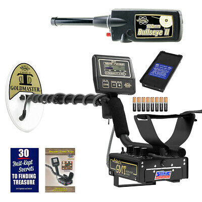 Whites GMT Metal Detector with Waterproof Search Coil and Bullseye II Pinpointer