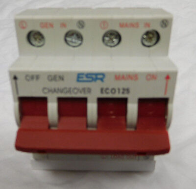 Changeover Switch Generator Transfer 125 Amp 1 Single Phase Din Rail Eco125