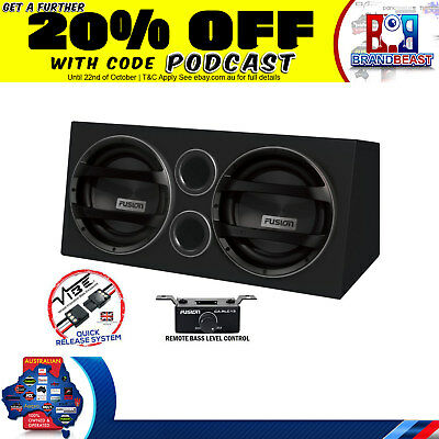 "Fusion Encounter En-ab2122 Dual 12"" Car Audio Subwoofer Amplifier Subs Amp Plug"