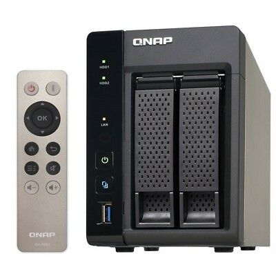 QNAP TS-253A-8G 2 Bay High performance NAS SMB Intel QC 1.6Ghz 8GB - Diskless