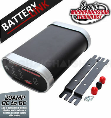 Battery Link Dc To Dc Smart Charger 20 Amp 12V Caravan Dual