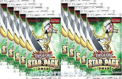 YuGiOh! Star Pack 2013 New and Sealed Booster Packs x10 Unlimited Edition