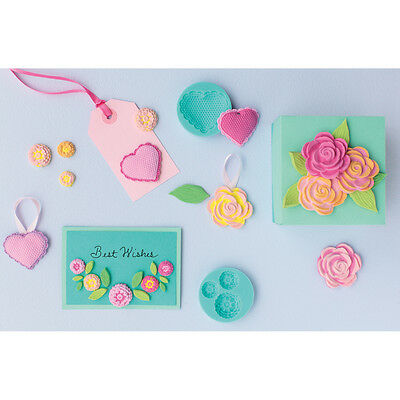 Martha Stewart Crafter's Clay Silicone Molds 4/Pkg Romantic 43-00028
