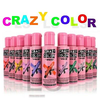 2 x CRAZY COLOR SEMI PERMANENT HAIR DYE 100 ML* Twin Pack