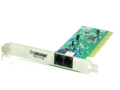 Longshine LCS-8056M internal 56K PCI Voice/Fax/Modem Card Adapter Card 2xRJ11