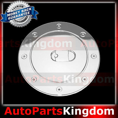 Fit 12-14 Toyota Camry ABS Triple Fuel Gas Tank Cap Door Cover Kit Chrome