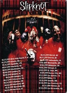 "SLIPKNOT Alternative Nu Heavy Metal Concert Tour TIN SIGN POSTER 8 x 11-1/2"" New"