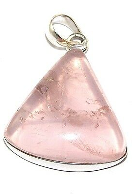 Sterling Silver Rose Quartz Pendant Jewellery PEND406