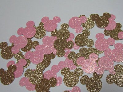 Minnie Birthday Party or Baby shower Table or Invitation confetti Pink Gold