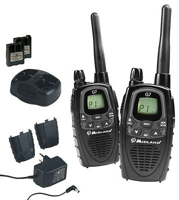 Radios Kofferset Midland G7 Xtr Walkie Talkie Security Service Craft Hobby