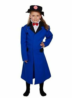 Girl Girls Victorian Nanny / Mary Poppins Style Book Day Fancy Dress Costume
