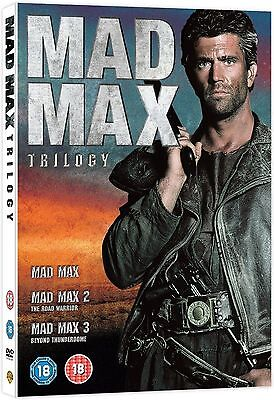 MAD MAX Complete Trilogy Movie Collection Box set Part 1 2 3 All Films UK R2 DVD
