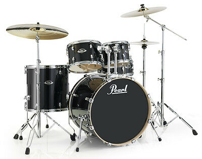 Pearl Export Lacquer Series 5 Piece Drum Set with Hardware - Black Smoke