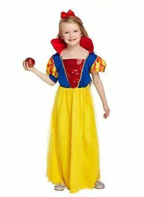 Girl Girls Snow White Princess Style Book Day Fancy Dress Costume Various Sizes
