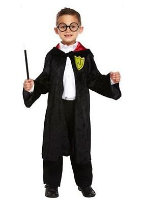 Boys Wizard Harry Potter Book Day Fancy Dress Costume + Glasses Various Sizes