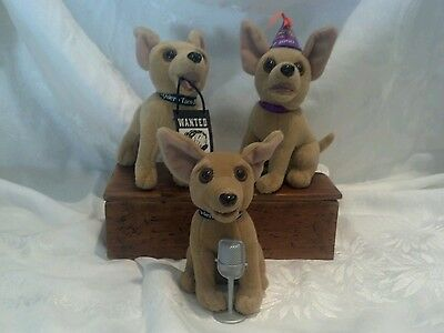 Taco Bell Talking Plush Dogs~ Bundle of Three