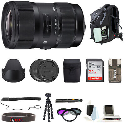 Sigma 18-35mm F1.8 DC HSM Zoom Lens for Canon DSLRs w/ Deluxe Accessory Kit
