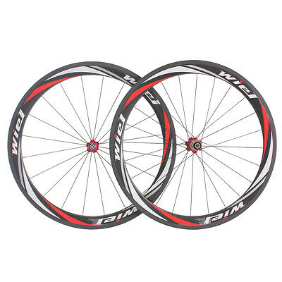 Wiel 700C 50mm Clincher Full Carbon Road Bicycle Wheelset Carbon Bike Wheels Hot