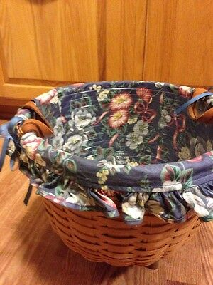 Longaberger Hostess1994 Retired Wildflower Basket with Protector - EUC