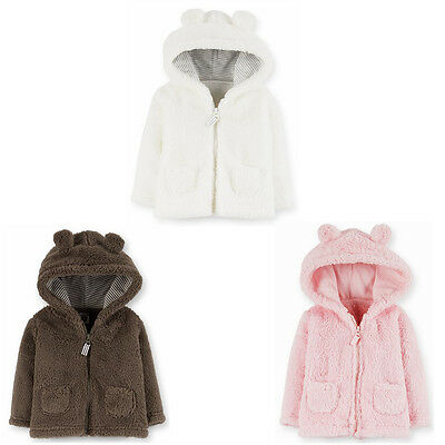 NWT Carters Baby boys girls Clothes Sherpa Hoodie Hooded Coat 6 9 12 18 24 Month