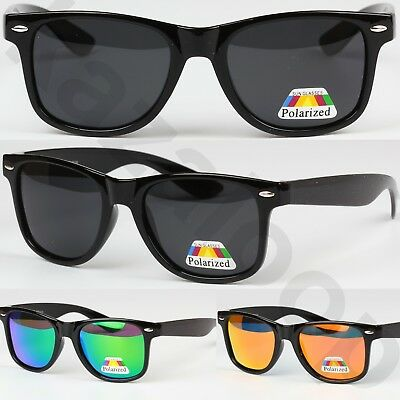 Unisex Polarized Lens Glossy Frame Square Sunglasses Vintage Retro UV400