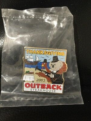 Outback Steakhouse hat lapel pin~ Thanksgiving 2003 New ~Vintage Collectible