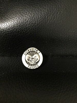 Outback Steakhouse hat lapel pin~ Charity Trust Heart 2002 ~Vintage Collectible