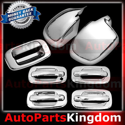 98-05 Chevy Blazer S10 SUV Chrome 2 Door Handle Covers+Tailgate Cover w//o PSG KH