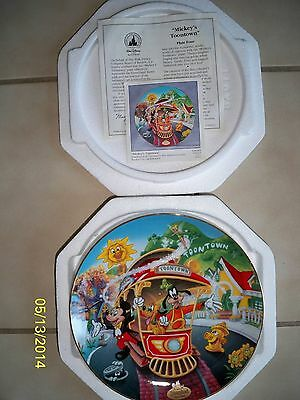 Disneyland's 40th Anniversary Collector Plate Series - Mickey's Toontown 1996