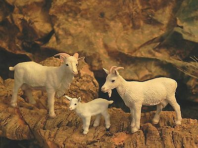 Safari Goat Set of 3 Figurines Nativity Scene Manger Presepio Cabras Pesebre