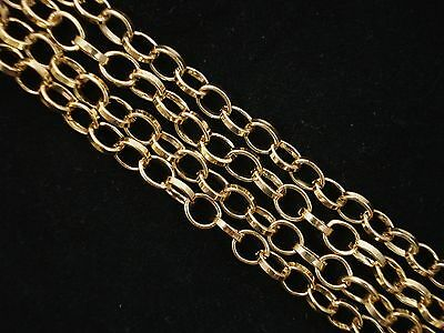 1m Oval Link Chain Gold 7mm Jewelry Jewellery Making DIY FREE POSTAGE