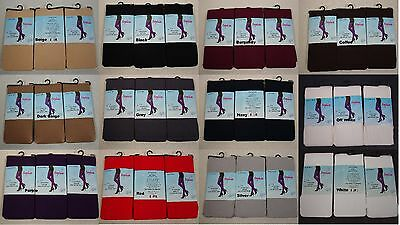 3 Pairs New WOMEN'S Opaque Tights FOOTED  Pantyhose underwear ONE SIZE #P2201