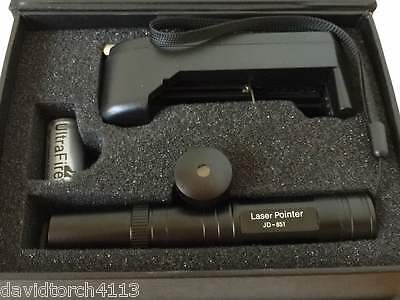 JD 851 Green Red Laser Pointer 1mW 532nm 16340 Rechargeable