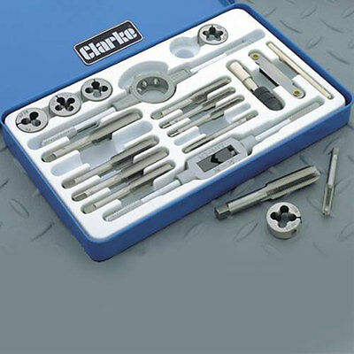 "Clarke CHT301 Tungsten Steel19 Piece UNF Tap And Die Set from 1/4""-28 to 1/2""-20"