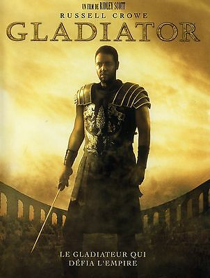 Poster A4 Plastifie-Laminated(1 Free/1 Gratuit)*movie Affiche Gladiator.